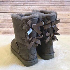 UGG Grey Bailey Bow II Boots
